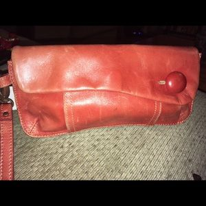 Fossil Leather Clutch Wristlet